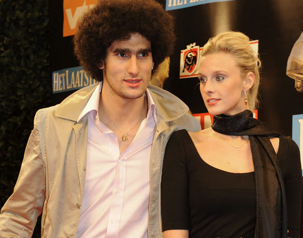 Marouane Fellaini with sexy, Girlfriend Lara Binet
