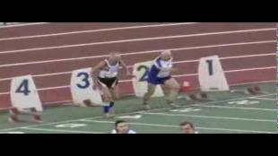 94-jarige Belg doet een 'Usain Boltje'