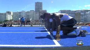 Bolt 'strandt' op zucht van wereldrecord