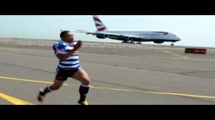 Man vs vliegtuig