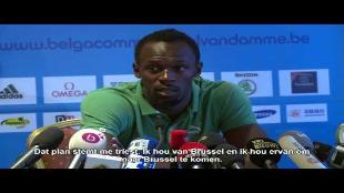 Bolt in 33 seconden over piste van 400 meter