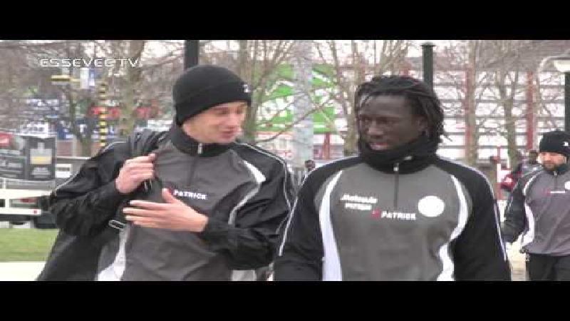 Mbaye Leye trainde voor het eerst met de groep