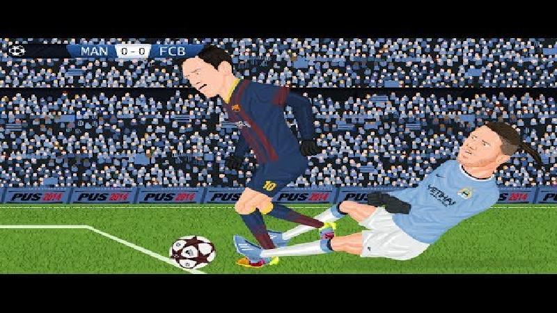 Manchester City - FC Barcelona, de tekenfilm