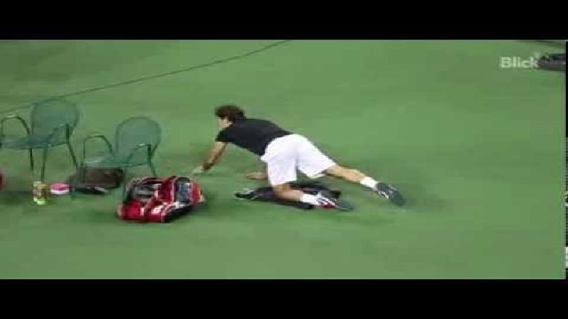 Yoga met Roger Federer