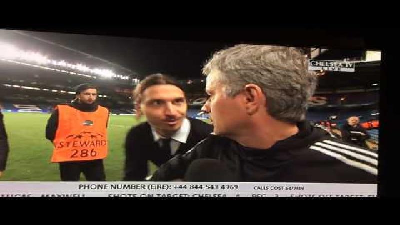Zlatan wenst Mourinho succes tijdens interview