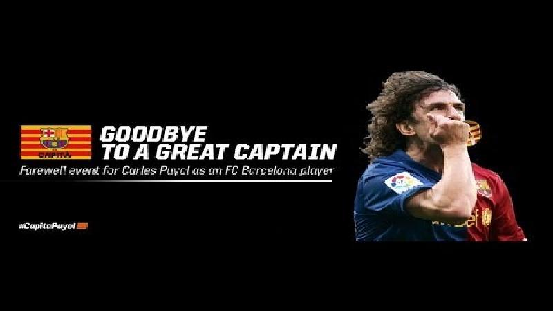 Geëmotioneerde Puyol neemt afscheid van Barca