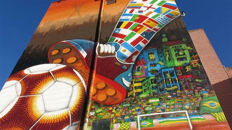 Graffiti kleurt Braziliaanse straten
