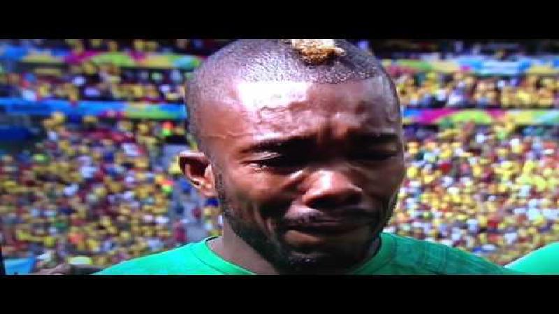 Emotionele Die huilde voor zijn vader(land)