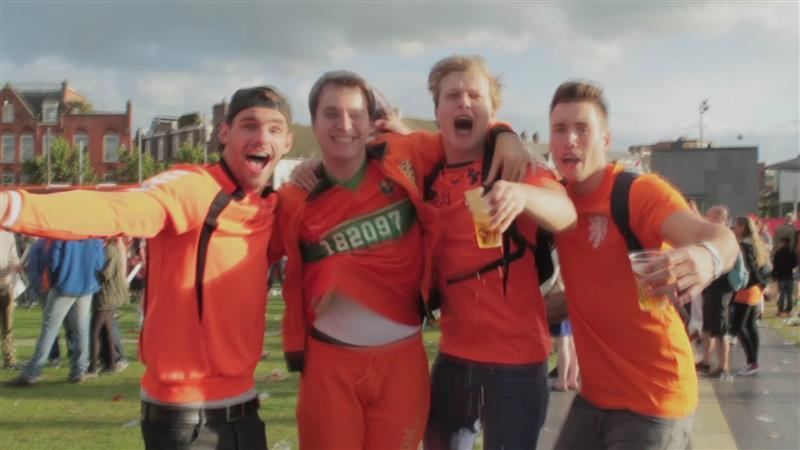 Nederland viert feest na overwinning Oranje