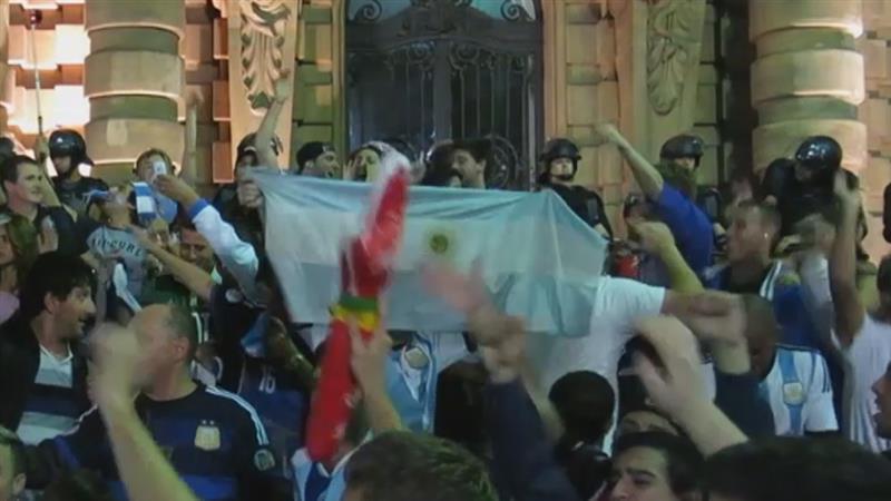 Argentijnse fans hebben geen schrik van Duitsland