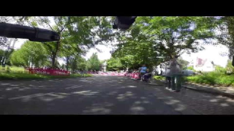 La Bike cam sur le guidon durant le chrono