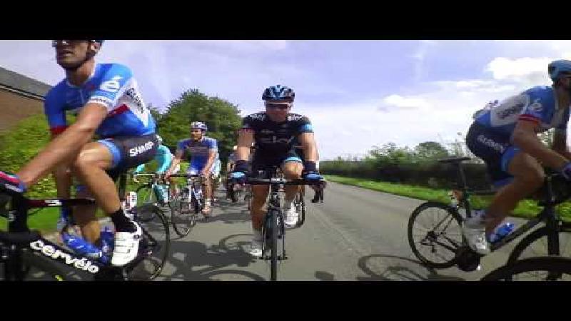 De Eneco Tour door de lens van de bike cam