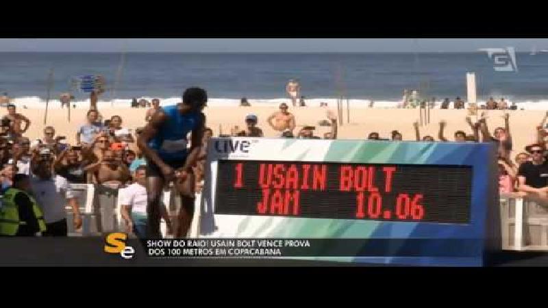 Bolt wint sprintje op Copacabana