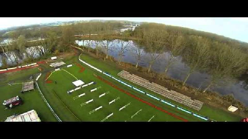 Drone verkent parcours van Flandriencross