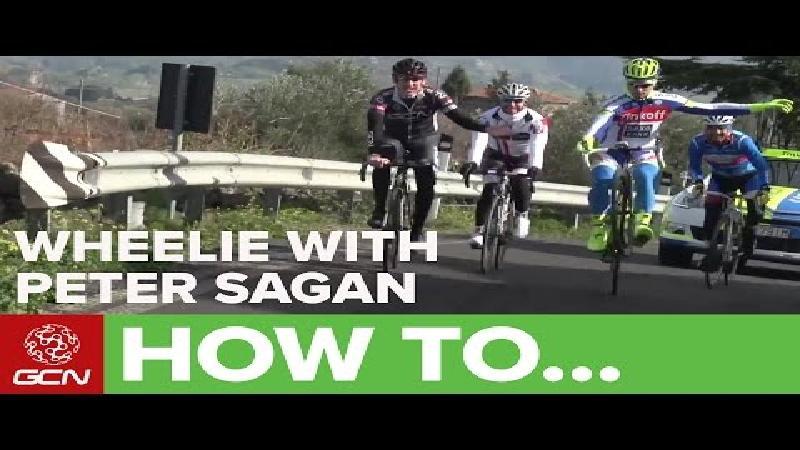 Volg wheelie-les met Peter Sagan (VIDEO)