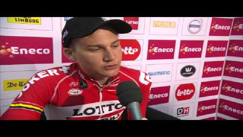 Eneco Tour: Reactie Wellens na rit 6