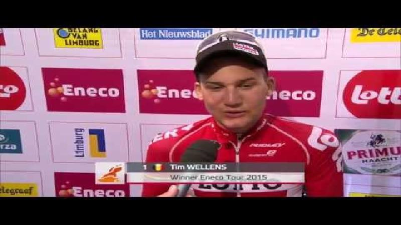 Reactie eindwinnaar Wellens na slotrit