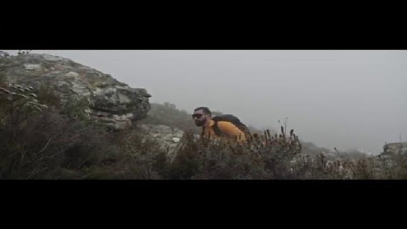Zuid-Afrika en de Alpen decor voor loopvideo