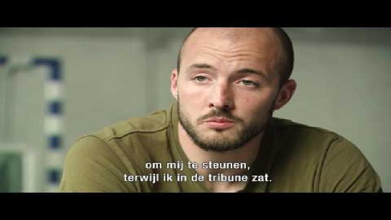 Portret Steve De Ridder en vader op training Belgian Homeless Cup