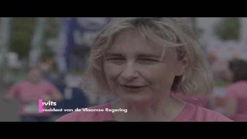 Deelname 12 (ex-)borstkankerpatiënten aan Kortrijk Loopt (VIDEO)