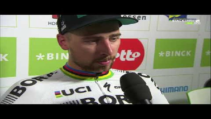 Sagan: 'Tevreden over mijn wedstrijd'
