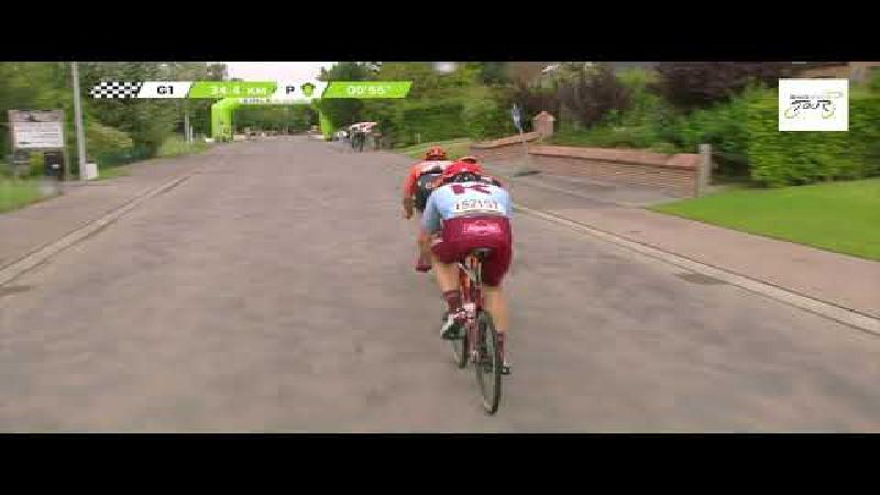 Bennett takes unique BinckBank Tour hat-trick