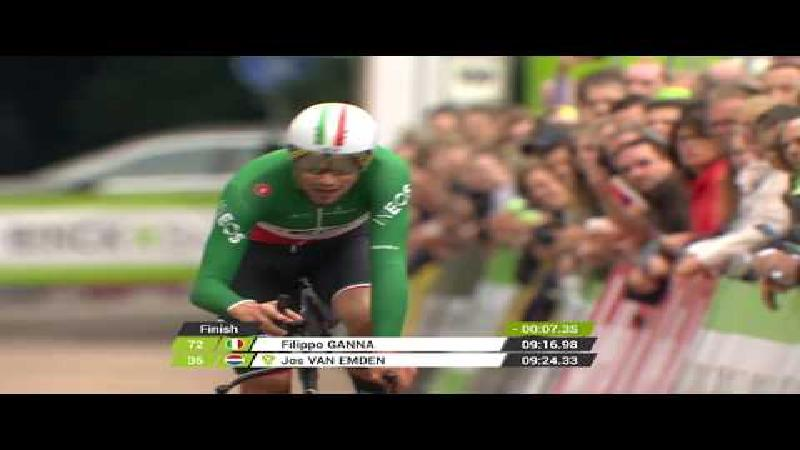 Filippo Ganna wint tijdrit in Den Haag, Tim Wellens steviger leider