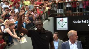 Usain Bolt geeft les aan Belgische jongeren