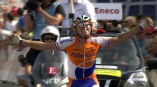 Moerenhout wint, Martin nieuwe leider in Eneco Tour