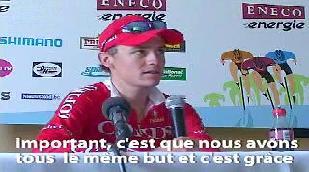 Réactions du gagnant de l'étape, Mark Cavendish et du leader Nick Nuyens