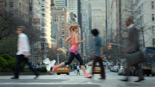 Nike loopt en zingt