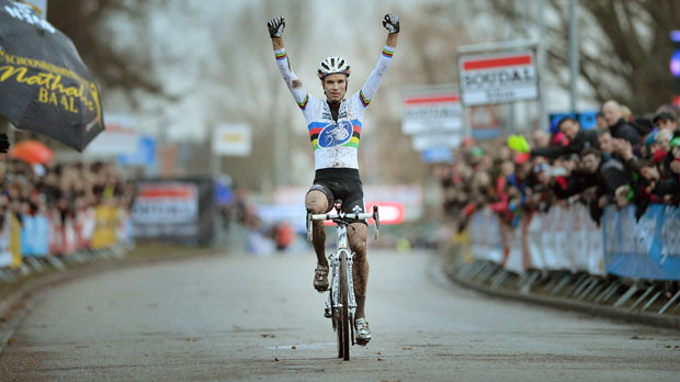 Albert demonstreert in Soudal Cyclocross Leuven