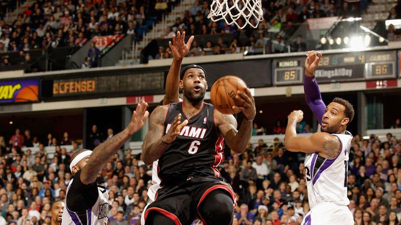 Sacramento Kings te sterk voor King James en Miami Heat