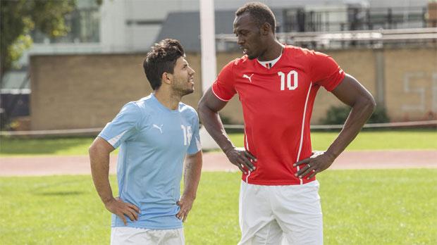 Bolt geeft sprintles aan Agüero