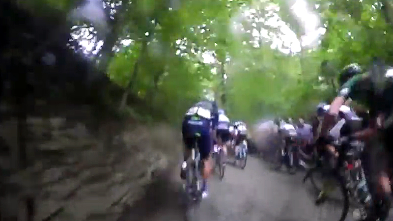 Bike cam on the 'Muur'
