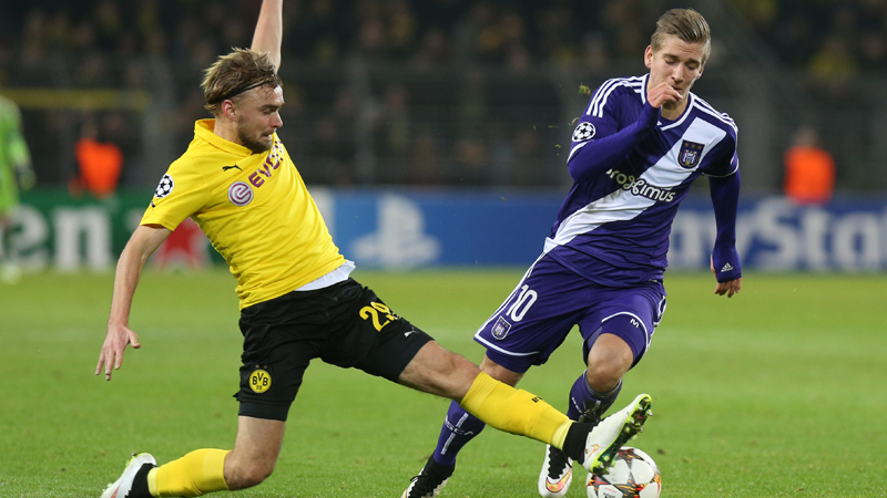 Anderlecht graait punt mee bij Dortmund (VIDEO)