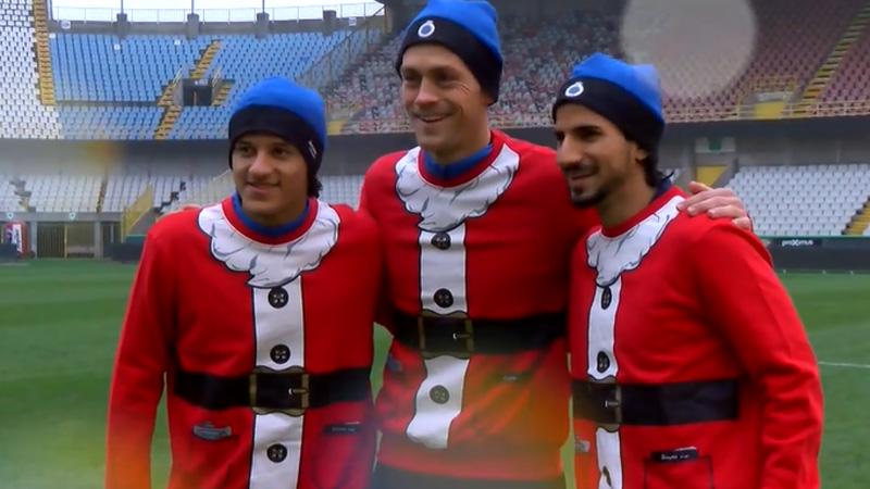 Spelers van Club al helemaal in de kerstsfeer
