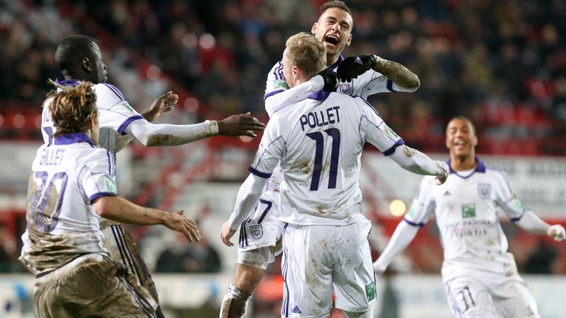 Pollet redt Anderlecht in slotminuut