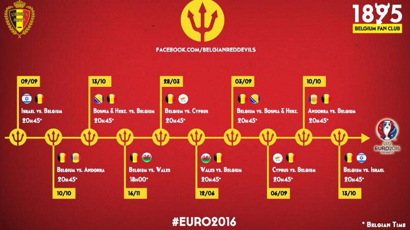 Euro Calendrier Match.Euro 2016 Le Calendrier Des Diables