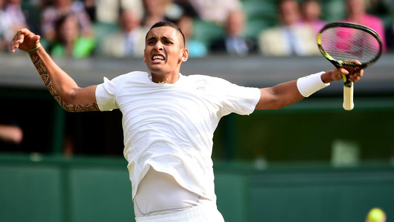 Kyrgios knalt Nadal uit Wimbledon