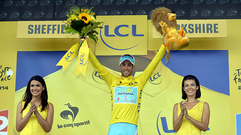 Nibali loopt blauwtje in Tour