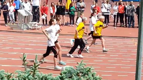 104-jarige breekt record op de 100 meter