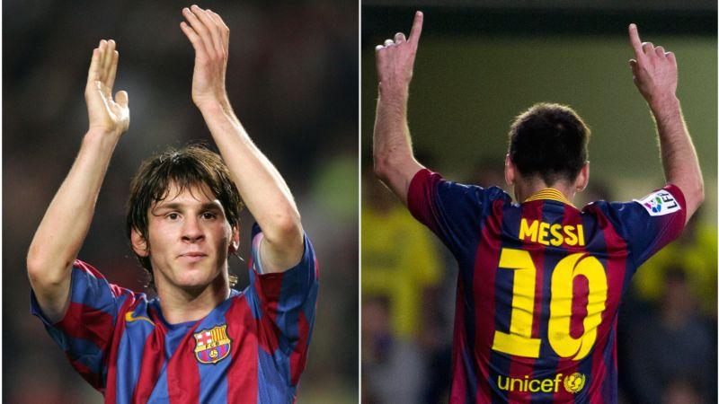 10 jaar Messi in 60 seconden