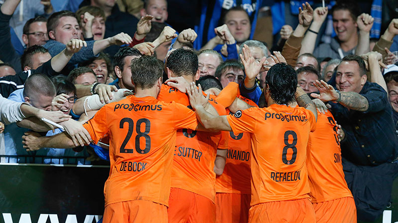 Club Brugge rukt op naar de tweede plaats