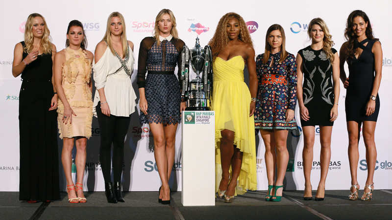 Glitter, glamour en toptennis in Singapore