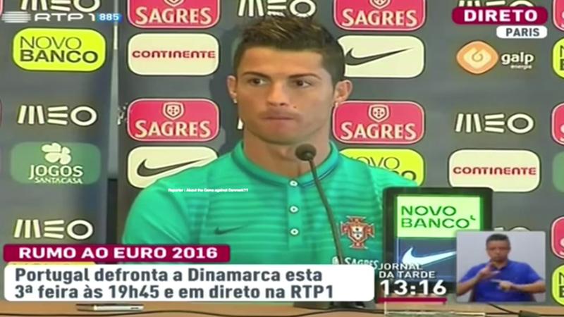 VIDEO: Ronaldo antwoordt 'onbekende' tv-zender niet