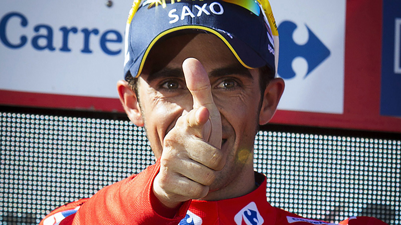 Contador grote overwinnaar na tumultueuze etappe