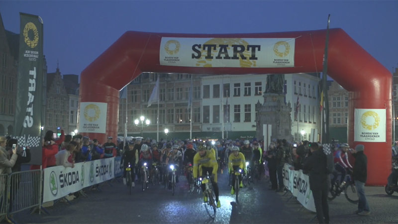 16,000 participants contest their Tour of Flanders Cyclo