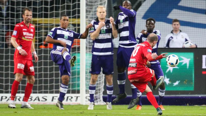 Berrier bezorgt Oostende een verdiend punt op Anderlecht