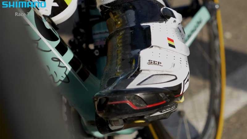 Vanmarcke is fan van de Shimano R321-schoenen